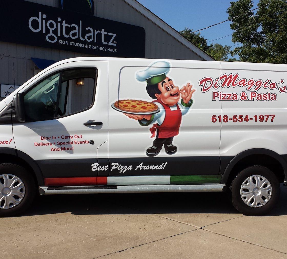 DiMaggios Delivery Van Spot Graphcis