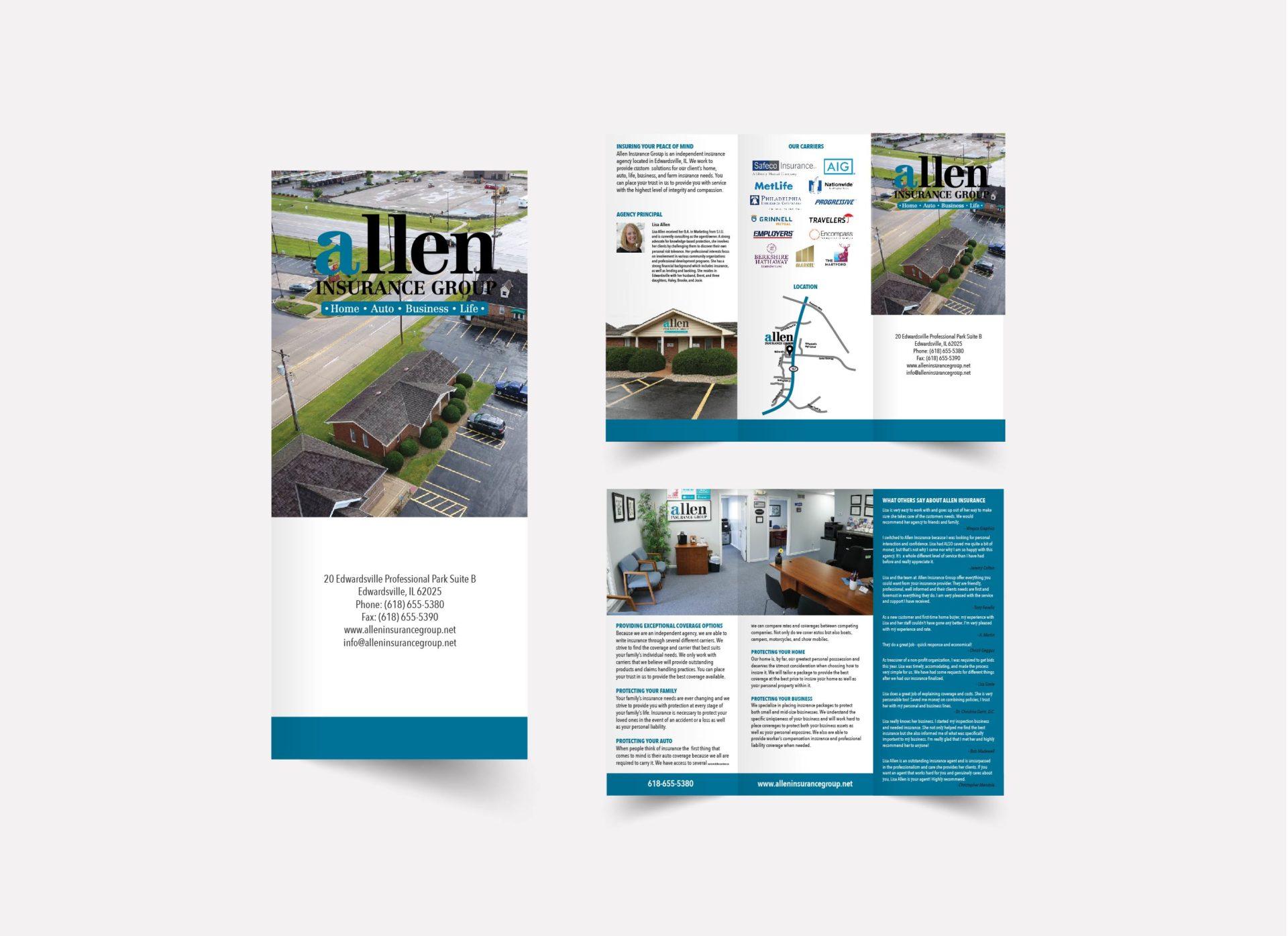 Allen Insurance Group Brochure Design