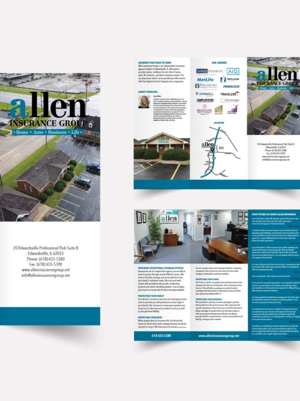 Allen Insurance Group Brochure Design