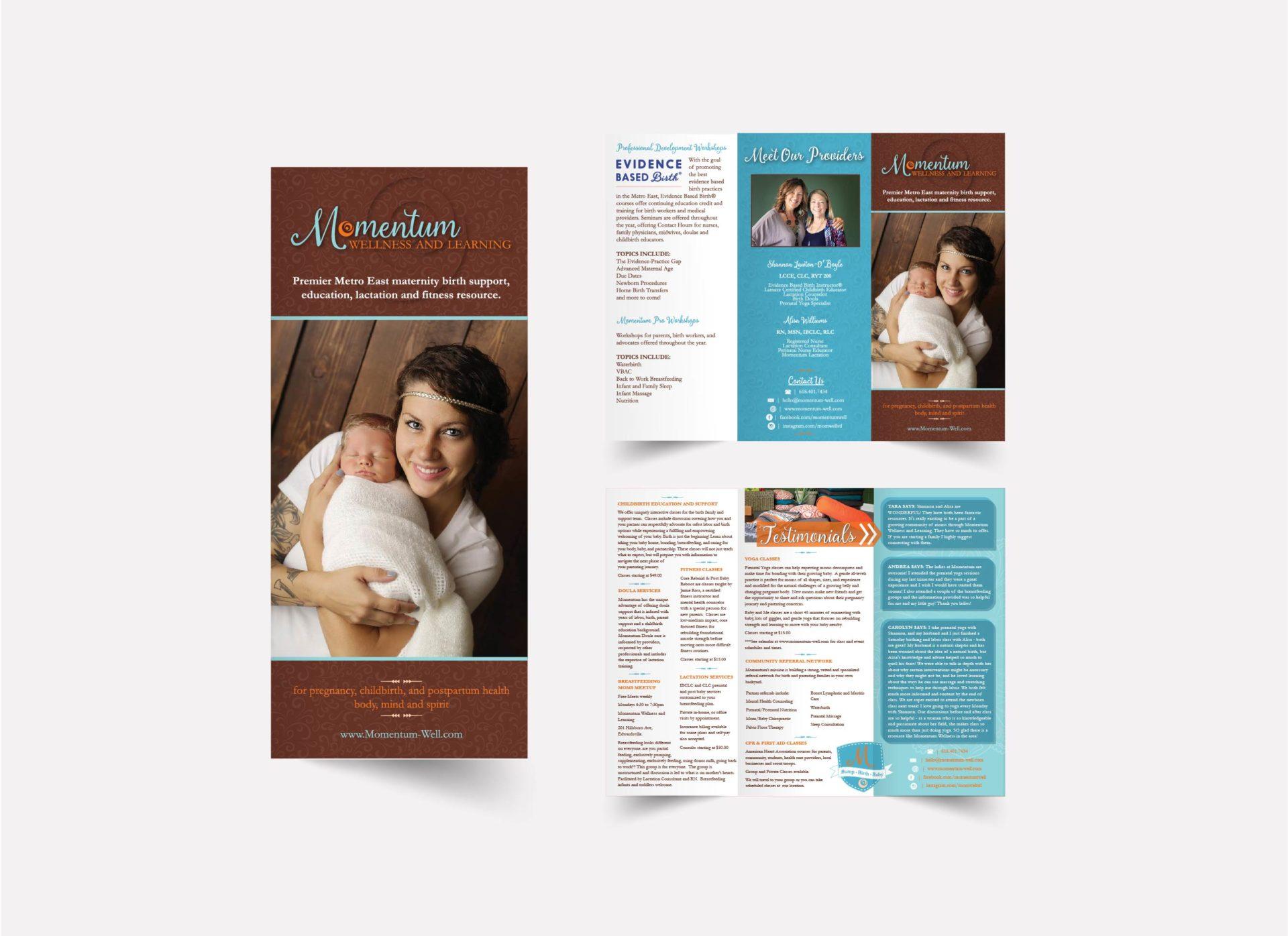 Momentum Wellness and Learning Brochure Design