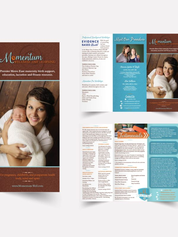 Momentum Wellness and Learning Brochure Design