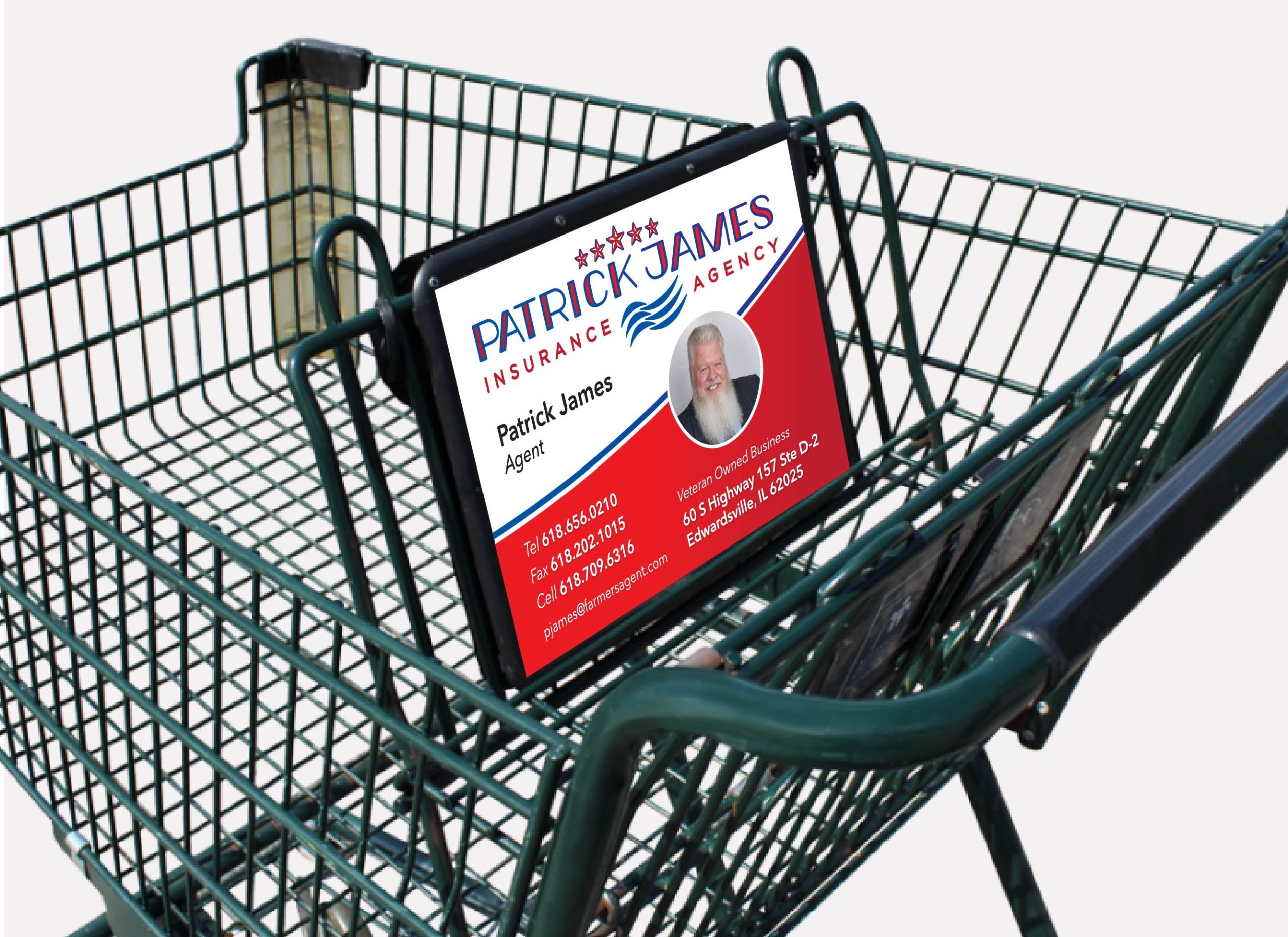 Patrick James Insurance Agency Shopping Cart Advertisement