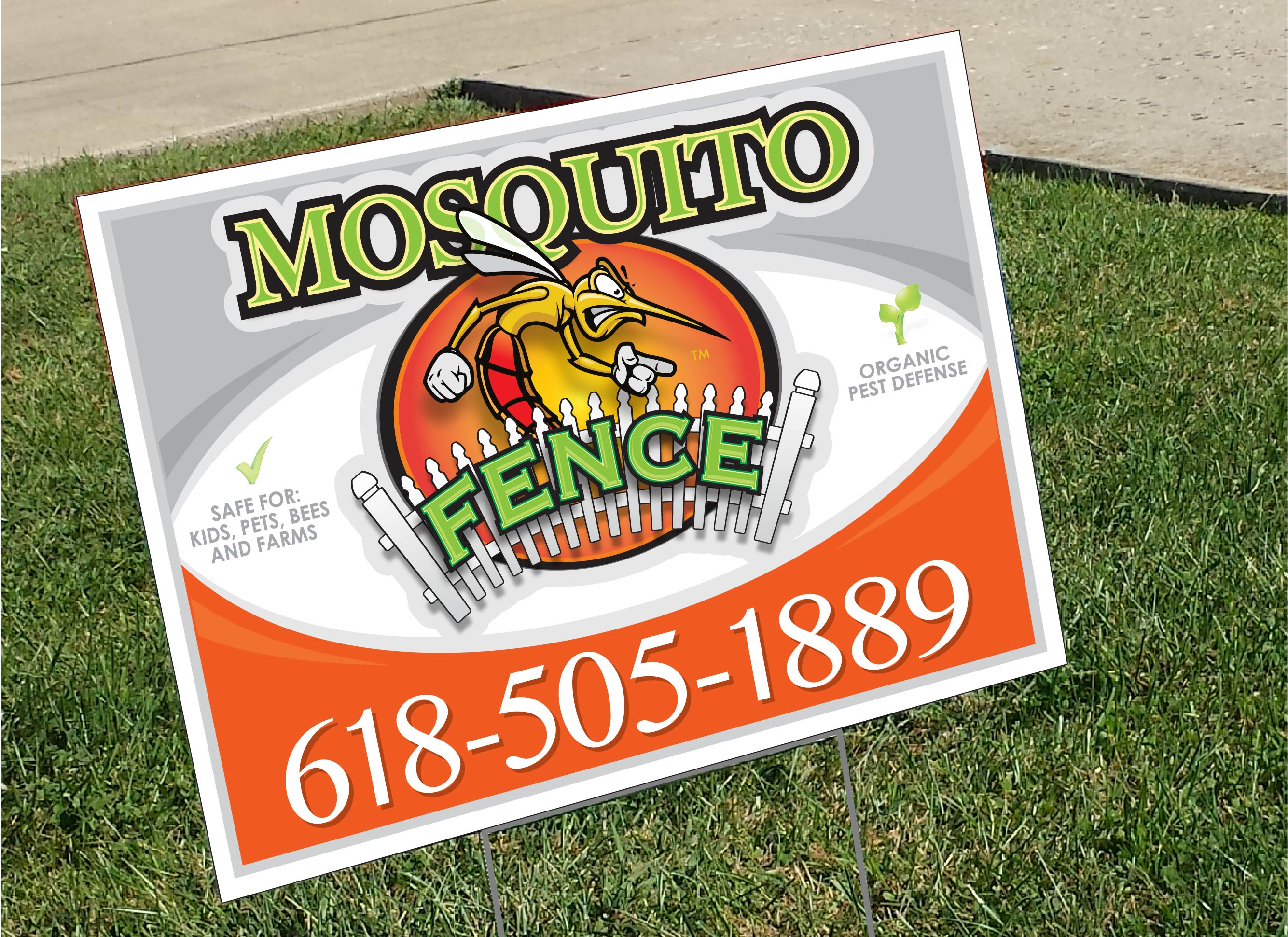 Mosquito Fence Coroplast Yard Sign