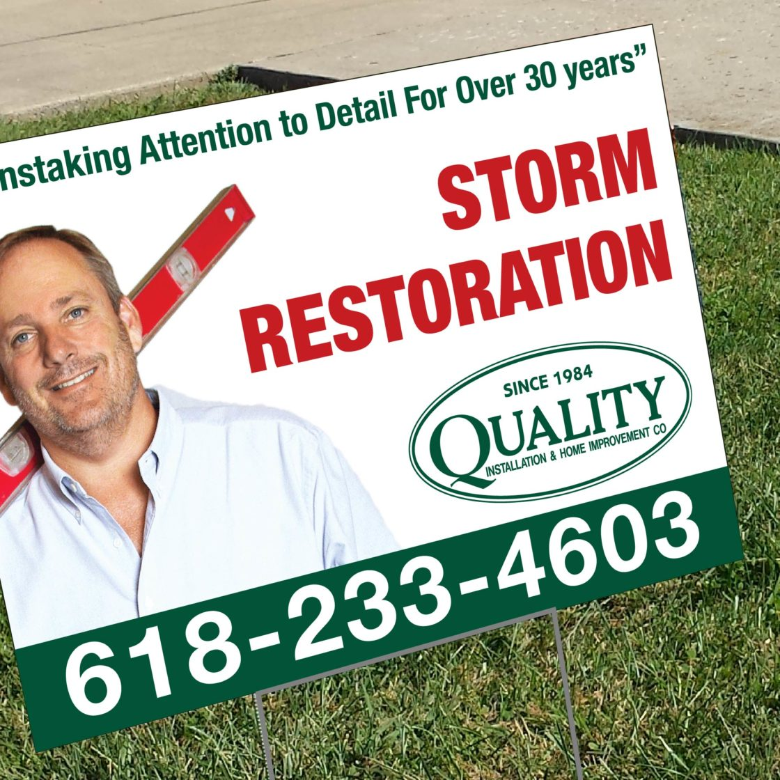 Quality Insurance Coroplast Yard Sign