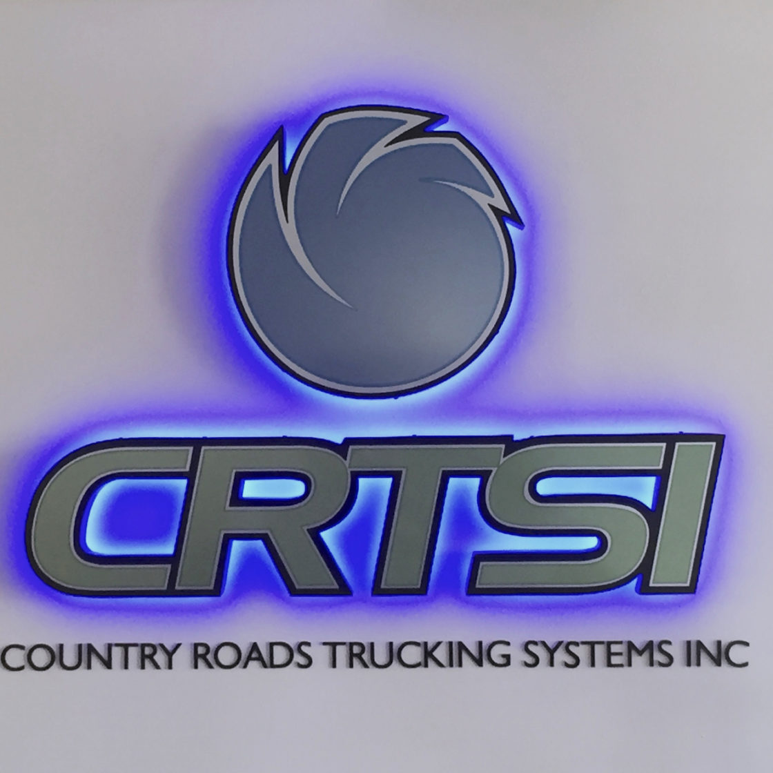 Country Roads Trucking Systems Inc Black Lit Sign Cabinet
