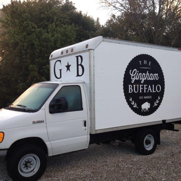 Gingham Buffalo Box Truck Spot Graphics