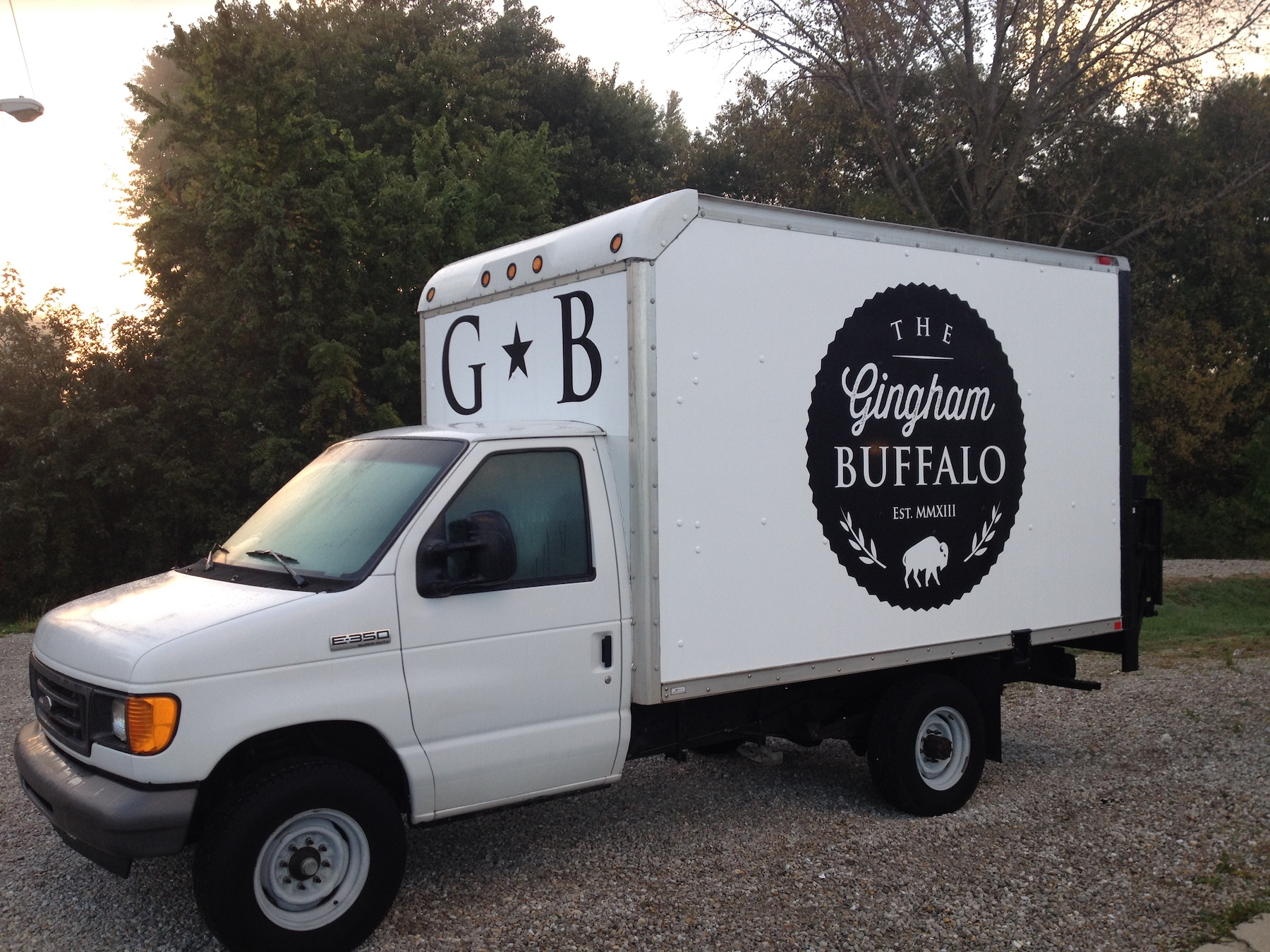 Gingham Buffalo Box Truck Spot Graphics