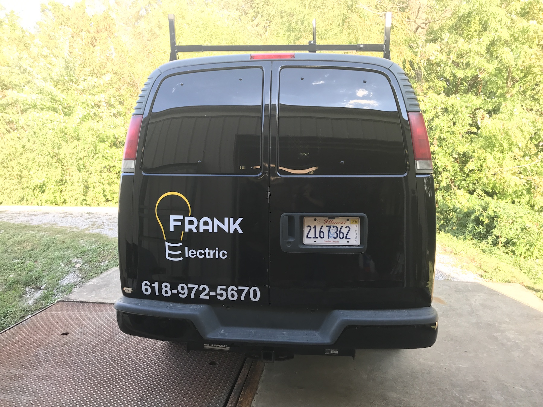 Frank Electric Cut Vinyl Spot Graphics