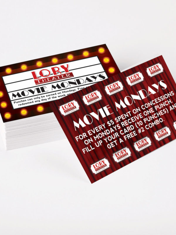 Lory Theater Punch Card Design
