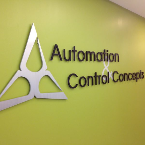 Automation Control & Concepts Dimensional Wall Lettering