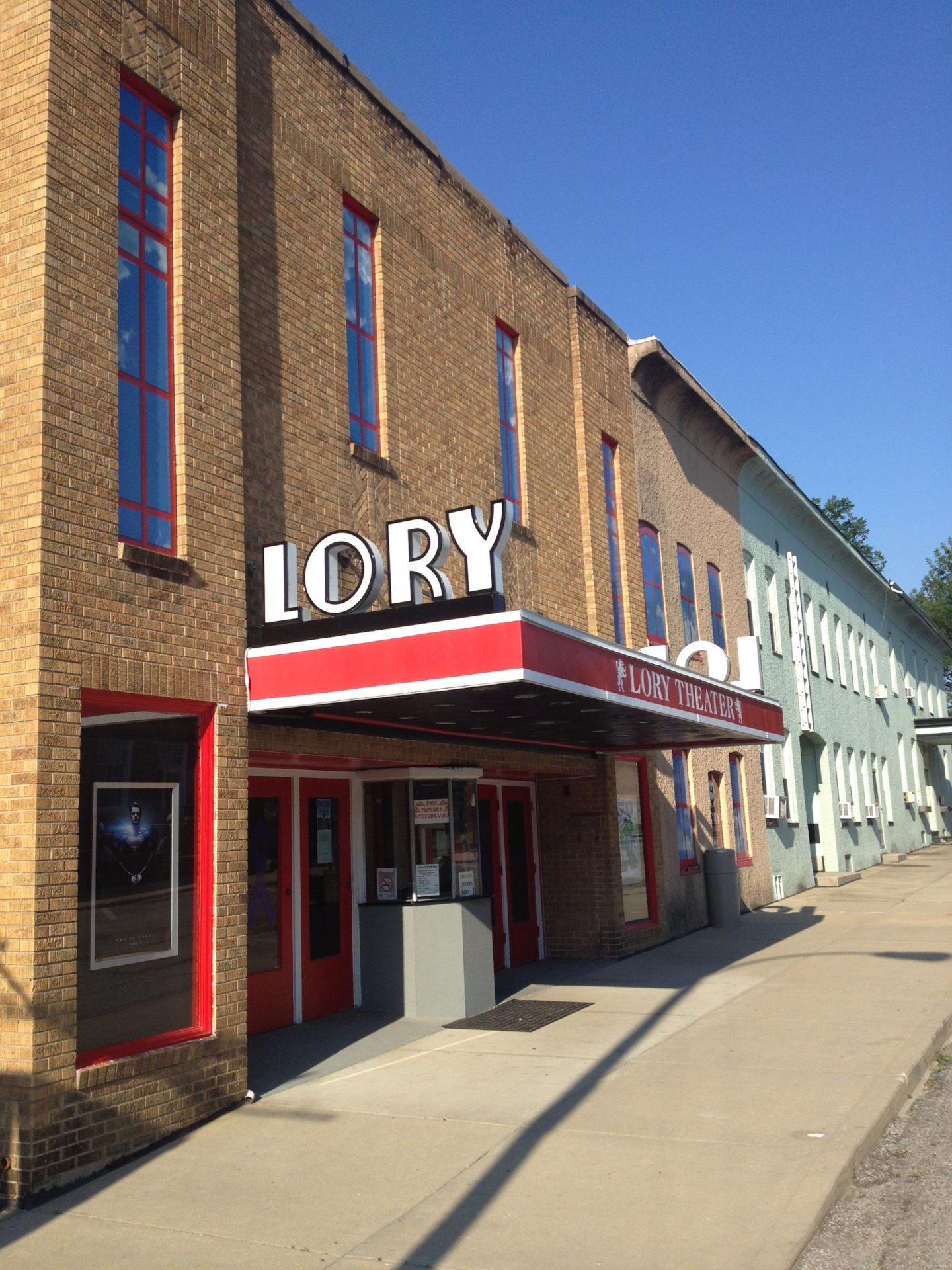 The Lory Theater Cabinet Sign