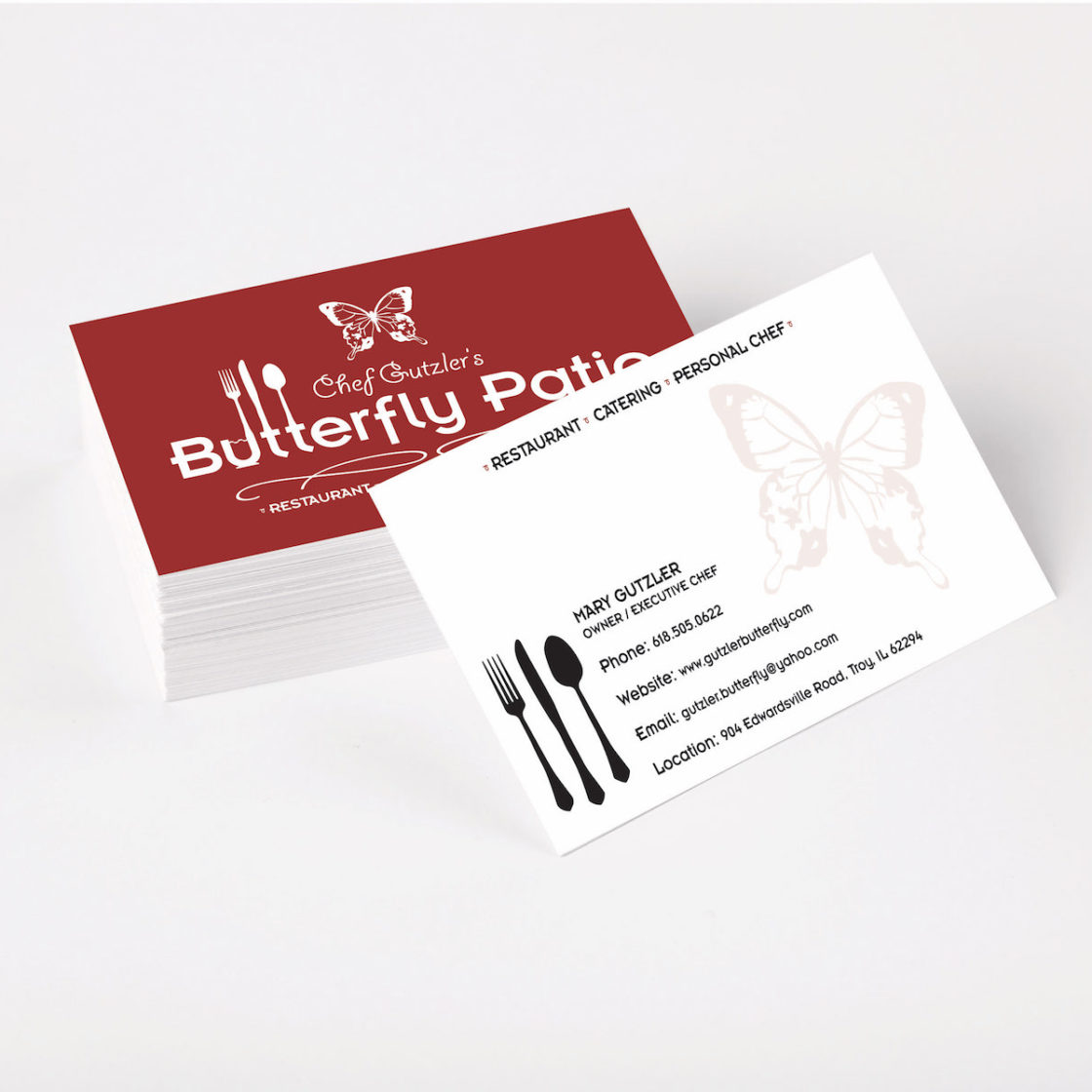 Butterfly Patio Business Cards